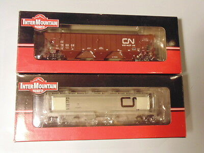 TWO CN Intermountain Covered Hoppers