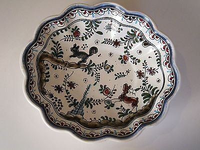 Vintage Hand Painted Portuguese Pottery Bowl # & Signed