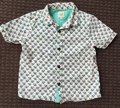 Baker Baby By Ted Baker Baby Boys Blue/green Crab Shirt Size 2 18-24 Months