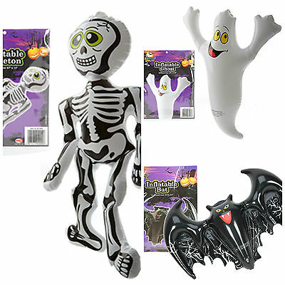 Halloween Inflatable Blow Up Room Decoration Skeleton Bat Ghost Spooky Fun Decor