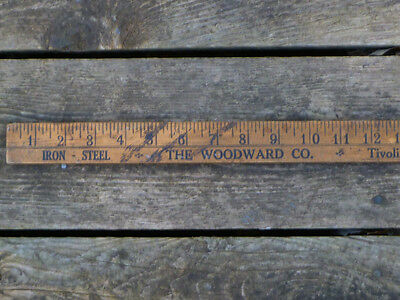 ~ vintage YARDSTICK ALBANY NY ~  The WOODWARD CO. ~ Metals - Troy & Schenectady