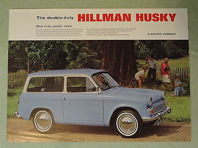 HILLMAN HUSKY.. sales sheet from the 1960's.