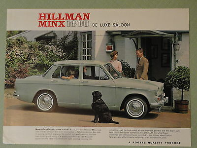 HILLMAN MINX 1600.. sales sheet from the 1960's.