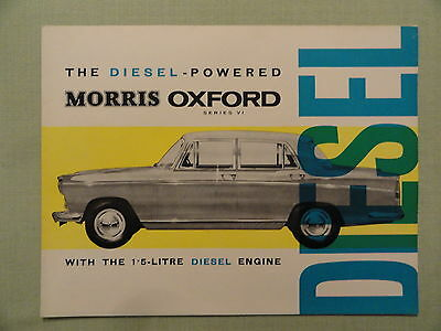 MORRIS OXFORD DIESEL sales brochure.
