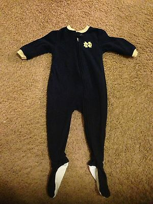 University Of Notre Dame Baby Sleeper 12 Months