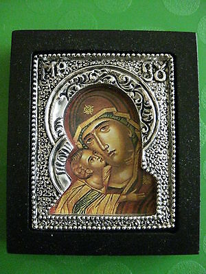 Lovely Greek Orthodox Icon Mary & Baby Jesus, Very Nice