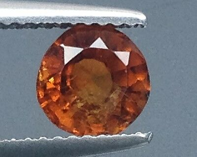 1.45Cts Top Lustrous Natural Hessonite Garnet Gems Round (3441)