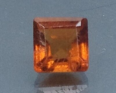 1.65Cts Top Lustrous Natural Hessonite Garnet Gems Square (3440)