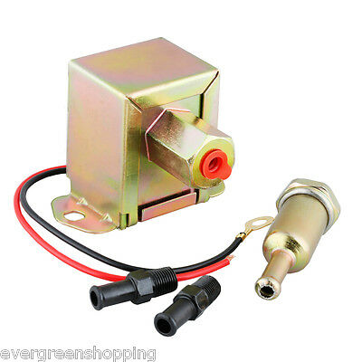12V Low Pressure Universal Electric Fuel Pump Suitable for Petrol Diesel 2-4 PSI