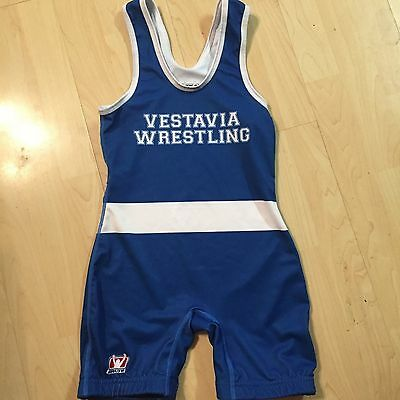 Brute Wrestling Singlet, Brand New without Tags,Blue and Wht,YM 60-75 lbs Custom