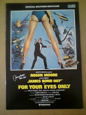 James Bond Official Souvenir Brochure Jeremy Bulloch Signed For Your Eyes Only
