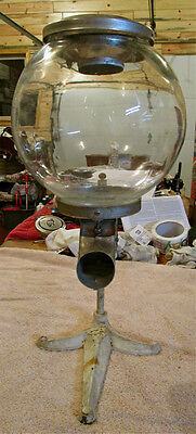 "Vintage Very Rare 1915 Country Store Glass Candy* Dispenser Machine 19 1/2"" T."