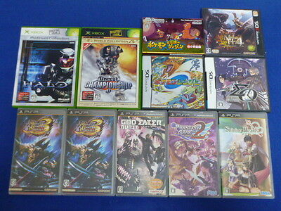 WHOLESALE Lot of 11 JAPAN Games PSP XBOX DS 3DS GAME BOY ADVANCE Japanese Used