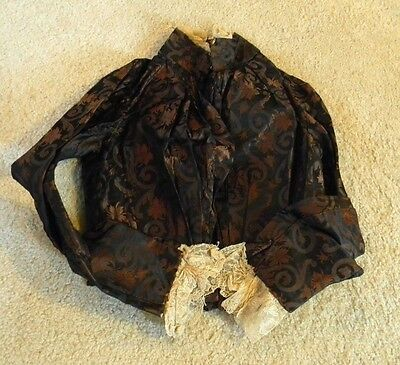 AWSOME Victorian Antique  Vintage Woman's Jacket Boning 1800's Gothic, Steampunk