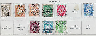 (1681) 1893-1918 Norway Norge Postage Stamp Page 9 Stamps