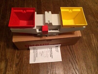 Ohaus primer Balance home school math scale  red yellow   0802