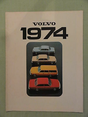 VOLVO 1974....Original Sales Brochure 1974.