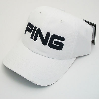 PING golf Cap - White Ping Golf- 2016 Tour Unstructured Cap