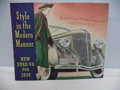 """1936 New Ford V-8 """"Style in the Modern Manner"""" Brochure"""