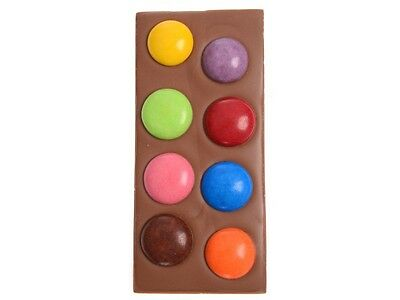 Large Smarties Gems Chocolate Block - Freckleberry Brand Individually Wrapped
