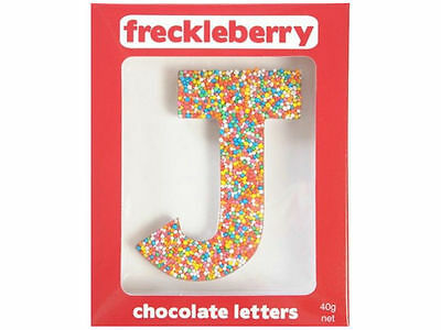 Letter J Chocolate Freckle Letter New Great Unique Gift Present Birthday