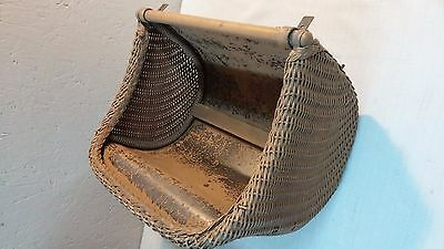 Vintage Thayer Wicker Baby Buggy / Carriage Part Rear End Hood