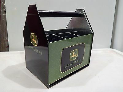 John Deere Metal Utensil Caddy tin w/black handle Black/green color, NEW + 4comp