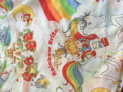 Vintage Rainbow Brite Fitted Twin Sheet Covers