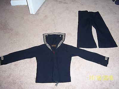 Vintage soft wool toddler's sailor outfit.