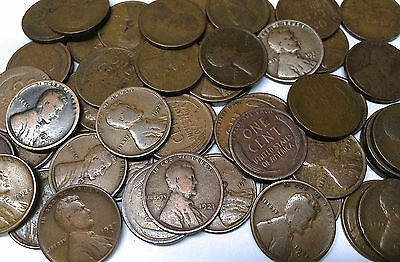1920-1929 pds Mint Lincoln Wheat Pennies Cents Roll of 50 coins (#5)