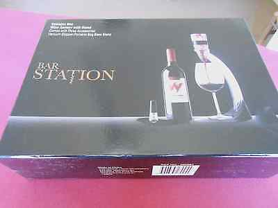 Bar Station Wine Aerator With Stand And Accessories - New