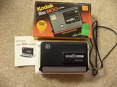 Vintage Kodak 6100 Disc Camera in Original Box with Directions
