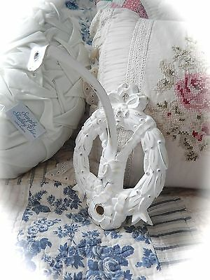 SHABBY Vintage ARCHITECTURAL Wreath BOW Electric WALL Sconce LIGHT Cottage CHIC