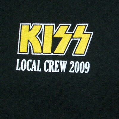 KISS T Shirt XL CREW ONLY New Unused 2009 Gene Simmons Paul Stanley