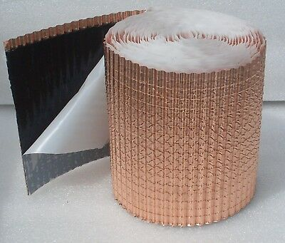 Anti Moss structured Copper band / self-adhesive / moss Stop / Dachentmoosung