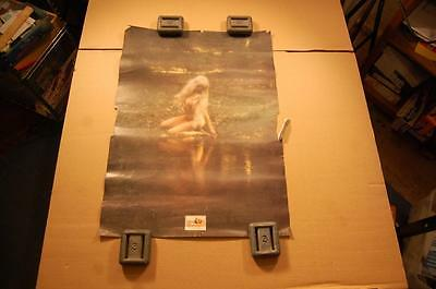 Vintage Husqvarna Chainsaw Sweden Pretty Girl Nymph Advertising Poster Sign