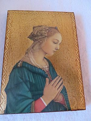 Religious icon - painted wood - beautiful, vintage