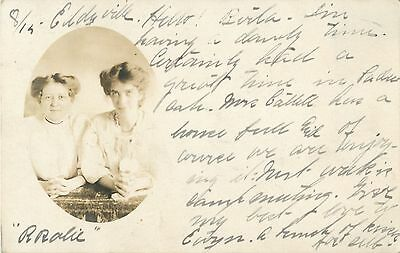 """Hello From Eddyville KY"" Two Women, RPPC 1906"