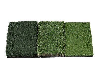 GOLF MAT - New, TRI-Surface large size 60cms x 40cms - three different surfaces