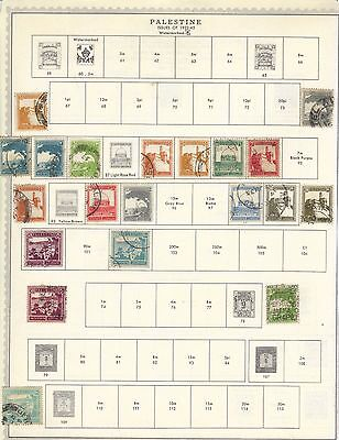 LJL Stamps: 28 Palestine stamps 1922-45 from old album