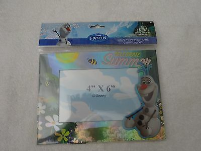 """Disney FROZEN Magnetic Picture Frame 4""""X6"""" Olaf"""