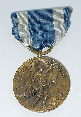 Vintage WWI NEW YORK STATE NUMBERED 41915 US Victory Medal