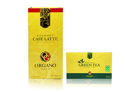 Organo Gold Cafe Latte Coffee with Ganoderma Licidum Reishi Drink + Express Ship