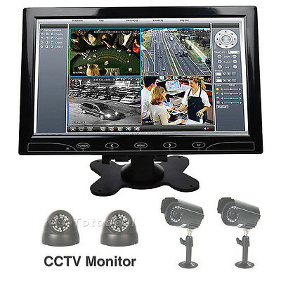 "10"" TFT LCD Color Monitor CCTV Security Surveillance Video Display Screen HDMI"