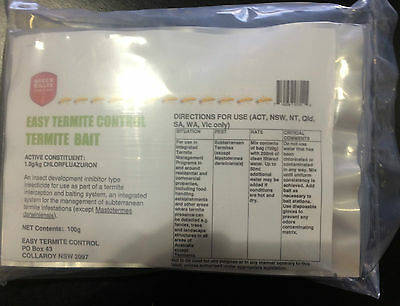 Termite Control Bait/ Queen Killer, 3 Satchels X 100g, + Treatment Instructions.