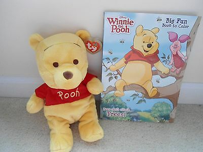 Ty,Winnie the Pooh Buddy &Winnie the Pooh Color Book.GREAT GIFT FOR BIRTHDAY.NEW