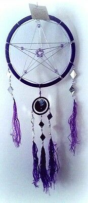 Purple Pentacle Dream catcher / pentagram pentacle wicca witchcraft pagan goth