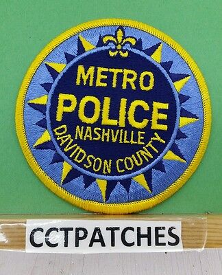 Nashville, Tennessee Metro Police Shoulder Patch Tn