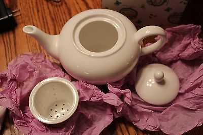 NEW Clayworks by Heather Goldminc white teapot