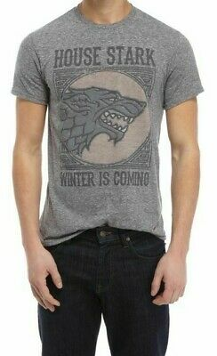 Game Of Thrones HOUSE STARK DIREWOLF WINTER IS COMING T-Shirt NWT Licensed